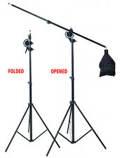 NEW IMPROVED for quick setup portable light stand with boom arm Max Height 3m AU