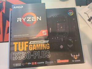 AMD Ryzen 5 5600x desktop processor & ASUS TUF B550-PLUS