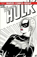 The Incredible Hulk #181 Blank Variant with original Modern Black Cat sketch