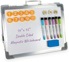 Workraze Portable White Board For Kids 16x12 Inch Magnetic Foldable Whiteboard