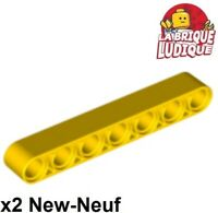 Lego Technic - 2x Liftarm 1x7 thick épais jaune/yellow 32524 NEUF