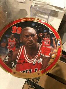 """Upper Deck Michael Jordan """"Michael vs Lakers """" Plate 1998 Return to Greatness"""