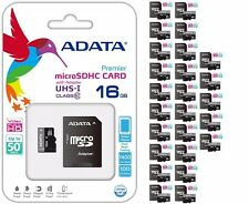 ADATA MicroSD 16GB CLASS 10 SDHC SD 50MB/s  MEMORY CARD SDXC Wholesale Lot100
