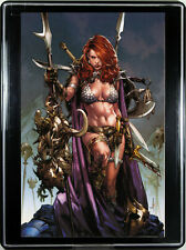 RED SONJA #1 (by JAY ANACLETO) w/FRAME ~ Custom Home Decor Comic Book Wall Art