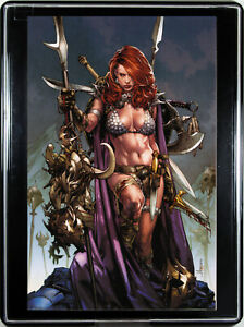 RED SONJA #1 (by JAY ANACLETO) w/FRAME ~ Custom Home Decor Comic Book Wall Art