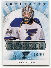 2012-13 Artifacts 193 Jake Allen Rookie 250/999