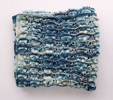 Soft Handmade Knit Lap Blanket ~ Afghan Throw ~ Baby Gift Nursery Bedding