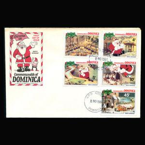 Dominica, FDC, 1981, Disney, Christmas, Santa's Workshop, D146-B