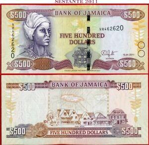 (com) JAMAICA  -  500 DOLLARS 15.1. 2011 -  P 85h  -  UNC