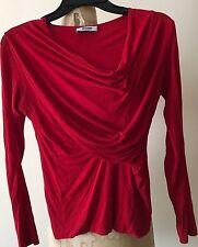 Ladies MOSCHINO Draped Soft Jersey Stylish Blouse, Size 4