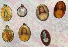 Vtg Catholic Religious Medals & Pins Medjugorge Jesus St Anthony & Jude-Estate