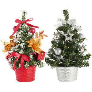 Mini Christmas Tabletop Holiday Festival Decor Desk Tops 20cm Height Small