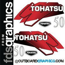 Tohatsu 50 2 stroke outboard engine decals/sticker kit