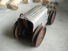 Vintage Tin and Metal Windup Farm Tractor Toy Parts or Repair