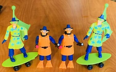Burger King 1991 Inspector Gadget Lot of 4 2 Scuba 2 Wind SurferAccessories