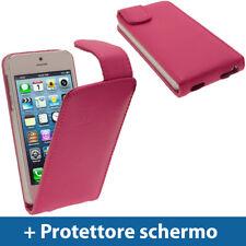 Rosa Vera Pelle Custodia per Nuovo Apple iPhone 5 5S 5C SE Cellulare 4G Cover