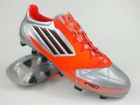 Adidas Mens Rare F50 adizero TRX FG Leather V21435 Silver Orange Cleats Boots