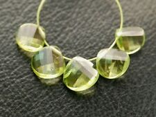VSI Natural Arizona Peridot Faceted Twist Heart Briolette Gemstone Beads