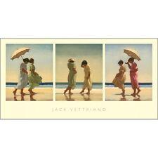 Jack Vettriano - Sommer Tagen - Triptychon - Kunstdruck - 36x70cm
