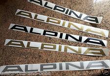 Alpina 360mm delantero alerón divisor con Logotipo Gráfico Pegatina Negro Gris Plata Oro
