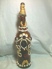 "Handmade Decorative & Designed Bottles ""The Queen"" 14""Tall"