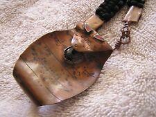 Vintage Hammered Copper Necklace Snake Cobra