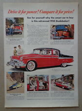 CHRYSLER WINDSOR 1955 Large 10.25 x 14 inches BLUE & WHITE AD advertisement