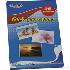 "108 SHEETS PHOTO PAPER A6/6""X4"" PRINTER PORTRAIT PRINT PHOTOGRAPHY CARD GLOSSY"