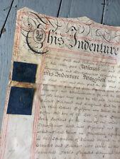 Vellum Deed Indenture England 1800 John Eastland- Very Legible!