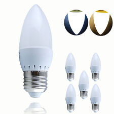 6XE27 3W=30W LED SMD Candle Light Bulb Lamp Spotlight Energy Warm White 3500K US