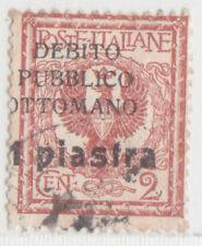 GREECE TURKEY 1912 DODECANESE  OTTOMAN REVENUE 1 PIA. USED