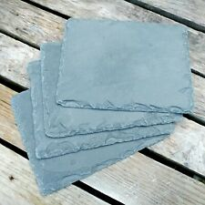 4x Aquarium Slate Rock Stone Pieces Basking Tiles for Reptile Tortoise or Fish
