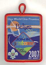 2007 World Scout Jamboree BELIZE SCOUTS JOIN IN JAMBOREE (JIJ) Patch