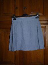PIMKIE Jupe courte mini-jupe 36 32/34 vichy bleu carreaux plis