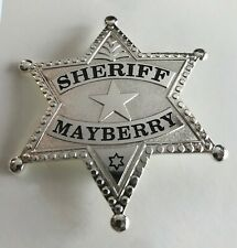 Andy Griffith Show Sheriff Mayberry Badge prop Don Knotts Free Key Chain & Patch