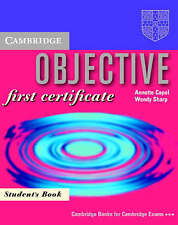 Objective: First Certificate Student's book, Capel, Annette & Sharp, Wendy, Used