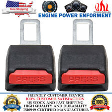 2pcs Car Safety Seat Belt Buckle Alarm Eliminator Extension Clip Fault Canceller Fits Toyota
