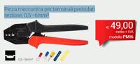 INTERCABLE PMI6 Pinza meccanica per terminali preisolati sezione: 0,5 - 6mm²