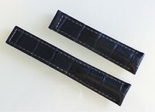 20/18mm for TAG Heuer Royal Blue Color Grey Stitching Alligator-Style Band Strap