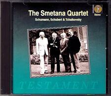 Smetana Quartet SCHUBERT SCHUMANN Tchaikovsky CD Quartetto Piano Quintet