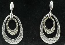 Gems Tv / Beautiful / Hammered Y. Gold Plated Silver Ring Earrings(7.4g)