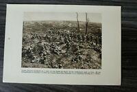 AA) Blatt 1.WK 1914-18 Chemin des Dames Deutsche Infanterie Kampfgebiet (1920er)