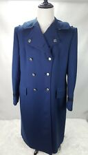 J51 Weintraub Bros Vintage Air Force Overcoat Cadet Long Pea Coat Women 22R