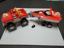 Vintage Gay Toys Item 0695 Speed Jet Boat Truck Trailer set