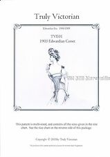 Sewing Pattern for 1903 Edwardian Corset Truly Victorian TVE01