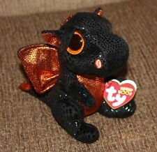 "Ty Beanie Boo's ~MERLIN~ the 6"" Walgreen's Exclusive Halloween Dragon ~ IN HAND"