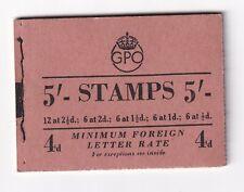 More details for gb 1953 h3 5/- stitched stamp booklet (sept 1953)