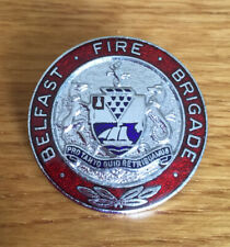 An old  original Belfast  Fire Brigade, cap badge.