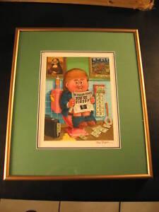 2004 Garbage Pail Kids 1/1 Original Art - President Donald Trump +Tom Bunk COA