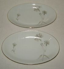 Wunsiedel Bavaria German Gray Floral Two Relish Dishes